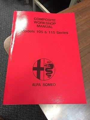 Alfa Romeo 105-115 Series GTV Spider Workshop Manual Repair Service Instruction