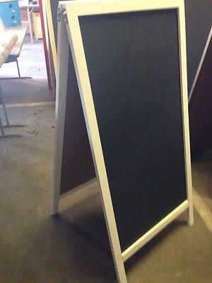Sidewalk Sign Black Chalkboard Easel 24x 48 White Hardwood Frame Wedding Legs