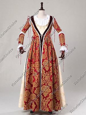 Medieval Renaissance Fair Game of Thrones Dress Queen Gown Theater Clothing 380 - Medieval Renaissance Clothing