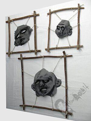 GRIMASSEN Gesichtshaut Unikate - Halloween Grusel Horror Gothic Deko Grimboldtt ()