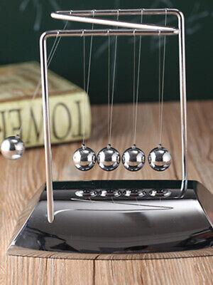 Newtons Cradle Steel Balance Ball Physics Science Pendulum Desk Decor Toy Gifts
