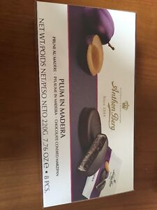 Anthon Berg Plum In Madeira Chocolate Covered Marzipan Chocolates 220g