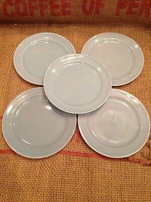 """Lot Of 5 Vintage LuRay Pastels Bread Butter Plates Blue 6 3/8""""  TS&T Taylor"""
