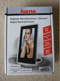 "HAMA vittoria Digital Photo Portrait frame 6"" - brand new"
