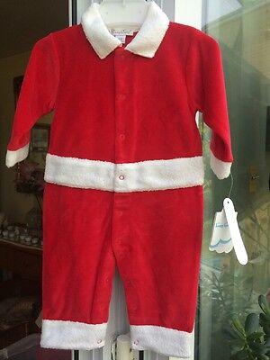 BNWTA Baby Boys Kissy Kissy Red Santa Christmas Romper Age 9 Months RRP £33.95