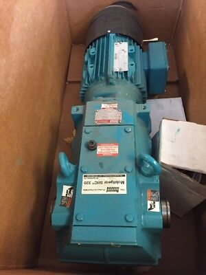 Brook Crompton 2HP 3PH 1720RPM Electric Motor W/ Rexnord Speed Reducer