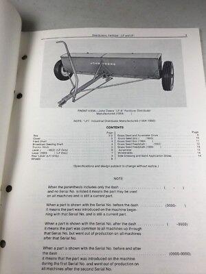 John Deere Lf Lfi Fertilizer Distributors Parts Catalog