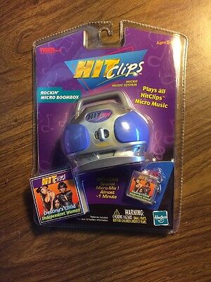 2001 TIGER HIT CLIPS ROCKIN' MICRO BOOMBOX DESTINY'S CHILD NEW