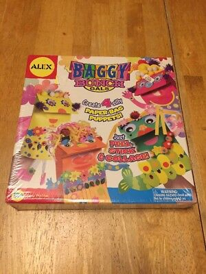 Alex Toys Baggy Bunch Gals New Handcrafted Fun  Create 4 Silly Paper Bag Puppets