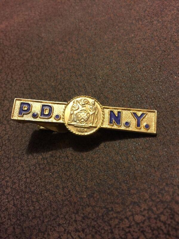 New York Police Department 1664 Logo NYPD Tie Clip Tie Clasp Bar Uniform Police