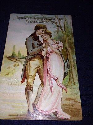 Antique Valentine, 1912 Postmark