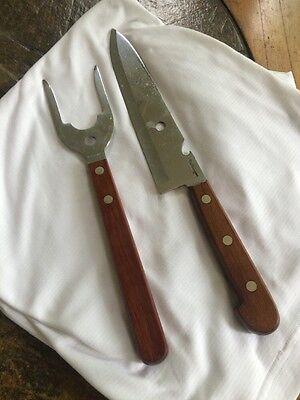 Vintage Cattaraugus Carving Knife and Fork Set