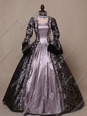 Renaissance Silver Goddess Fantasy Ball Gown Dress Ghost Halloween Costume N 119 - Renaissance Goddess
