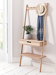 Scandinavian wood coat hat rack, hall stand, storage shelf Avalon Pittwater Area Preview
