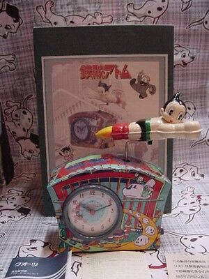ASTRO BOY TIN CLOCK  PLAYS ASTROBOY THEME music box vintage limited japan tezuka