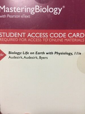 Masteringbiology With Pearson Etext Biology  Life On Earth With Physiology 11Th