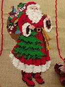 PREWORKED Needlepoint Christmas Stocking