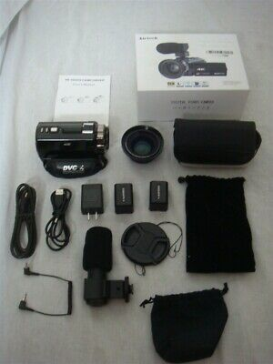 KICTECK 4K ULTRA-HD CAMCORDER W WIDE ANGLE LENS & MICROPHONE, used for sale  Shipping to India