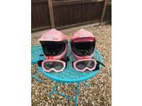 Childrens pink motor bike helmets