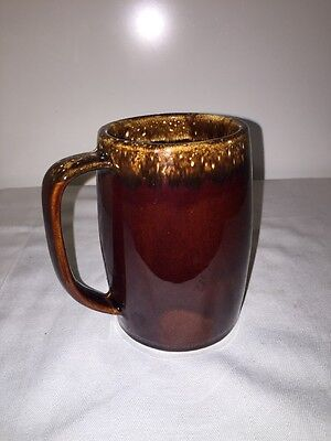 Vintage HULL Brown Drip Large Grand Mug Beer Stein OVEN PROOF USA