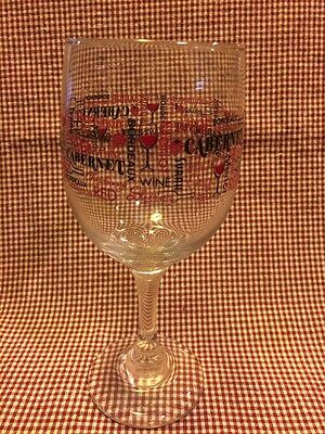 Lot of 4 Wine Glasses-Merlot-Cabernet-Riesling-Pinot! 10.5 oz-Nice Gift!