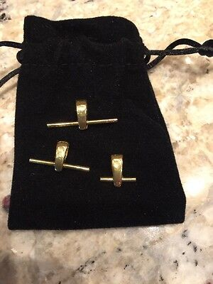 Set of 3 sizes 14KT Gold Plated Pin to Pendant Converters                  NB638