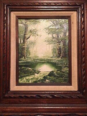 Famous Landscape Oil Paintings (Famous listed  Artist SCHILLER , Original Oil Painting Mystical Landscape )