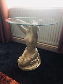 Mermaid glass table