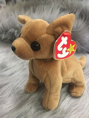 Tiny the Chihuahua Ty Beanie Baby, Rare 5 ERRORS NEW with Tags and tag protector for sale  Shipping to Canada