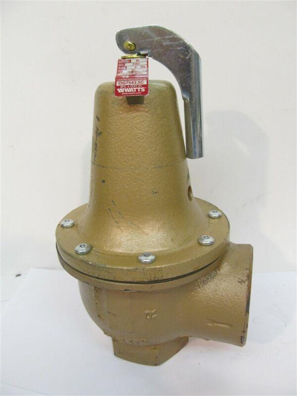 "Watts 0384042, Model M, Series 740,  2"" Boiler Pressure Relief Valve"