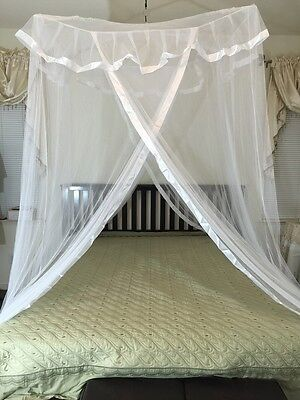 poles cross top bed canopy functional mosquito
