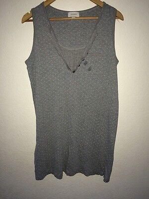 Sussan Grey Nightdress Nighty Sleeveless Polka Dot Size M <R4369