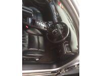 Audi A8 D3 Black Leather Seats