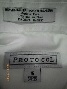 2 new youth dress shirts size 16,one black one white $15 for two Sarnia Sarnia Area image 2