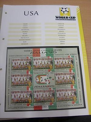 Circa 1990 USA - America: World Cup Set Of 8 Stamps (complete), On Page Taken Fr