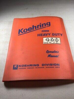 Koehring 466 Hoe Operators Manual