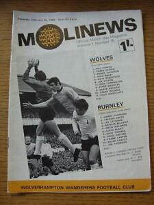 01-02-1969-Wolverhampton-Wanderers-v-Burnley-Light-Crease-Item-In-very-good