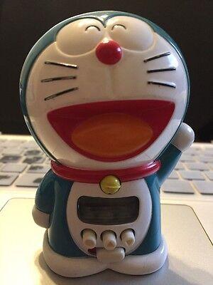 Rare Vintage Doraemon Smiling Robot Cat Digital Alarm Clock SANRIO works battery
