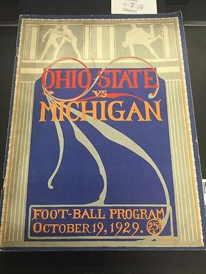 1929 Ohio State Vs Michigan Official Football Program October 19 1929
