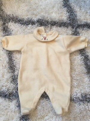 DPAM BEBE Unisex Newborn Baby Yellow Soft Fleece European One Piece NWT