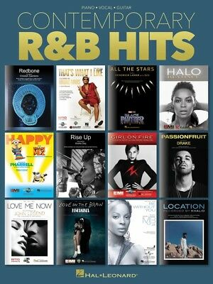 Contemporary R&B Hits Sheet Music Piano Vocal Guitar SongBook NEW 000276001