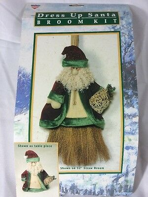 Nicole Crafts Dress Up Santa Broom Kit Christmas Winter