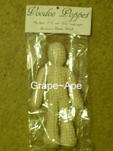 New CROCHET POPPET HOODOO VOODOO DOLL MAGIC WHITE With a crochet poppet pattern