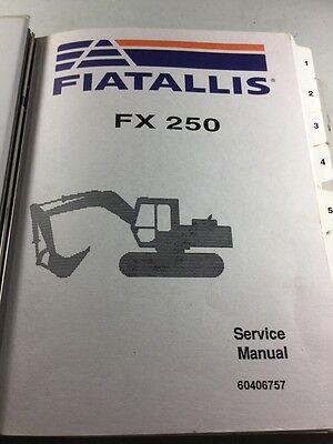 Fiat Allis Fx250 Hydraulic Excavator Service Manual