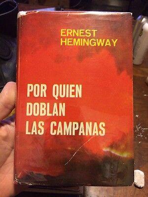 Por Quien Doblan Las Campanas By Ernest Hemingway 1950 Spanish Edition Rare ()