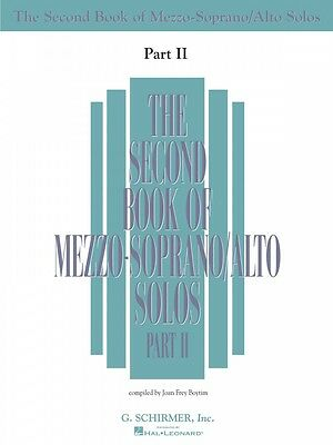 The Second Book of Mezzo-Soprano Solos Part II Book Only Vocal NEW 050485222