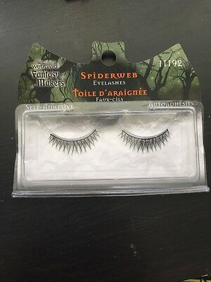 Fantasy Makers Wet Wild Self-Adhesive Spiderweb Halloween EyeLashes 11192 - Spider Web Eyes Halloween Makeup