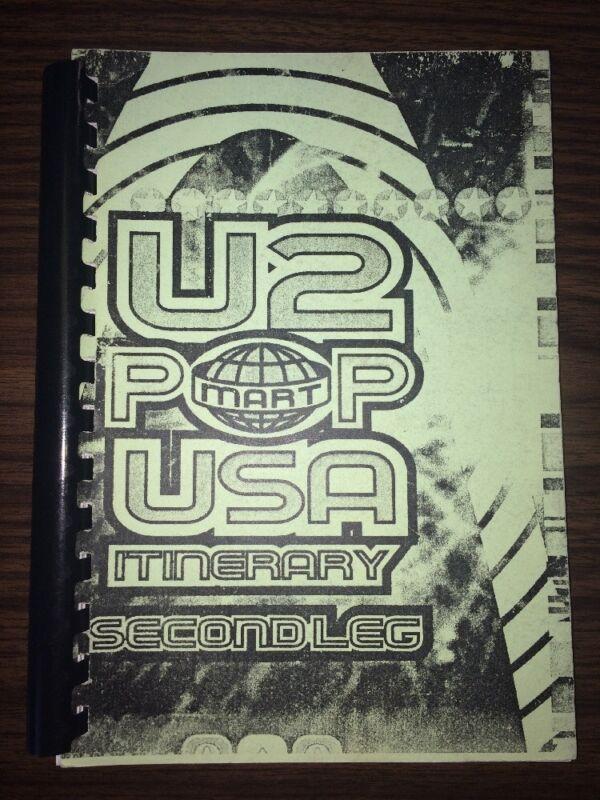 RARE Vintage U2 Pop Mart USA Second Leg ~Tour Itinerary~ 1997