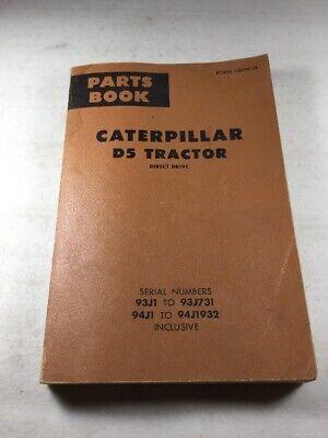 Caterpillar D5 Direct Drive Parts Book
