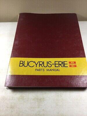 Bucyrus Erie 300 Csp Crane Parts Catalog Manual Original